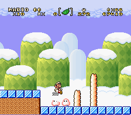 Super Mario Brothers 2 Deluxe - Me squishing an enemy - User Screenshot