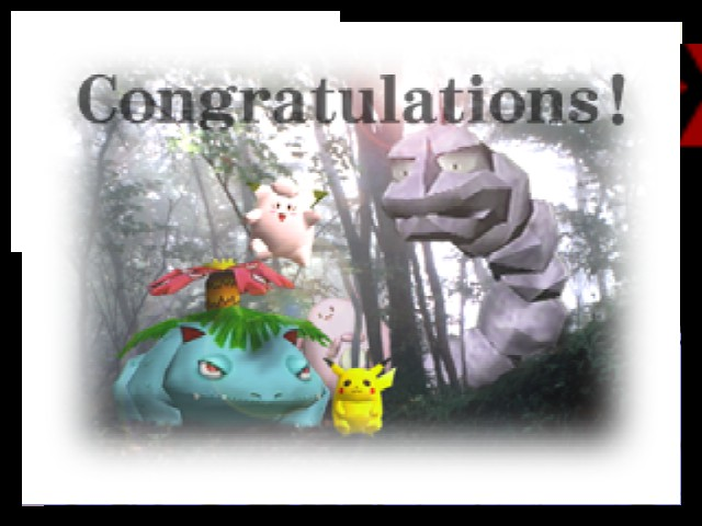 Super Smash Bros. - Ending  - Finish with Pikachu - User Screenshot