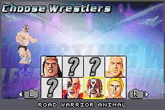 Legends of Wrestling II - Character Select  - Road Warrior Animal - User Screenshot