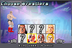 Legends of Wrestling II - Character Select  - Road Warrior Hawk - User Screenshot