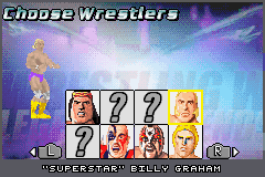 Legends of Wrestling II - Character Select  - Billy Graham - User Screenshot