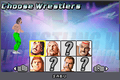 Legends of Wrestling II - Character Select  - Sabu - User Screenshot