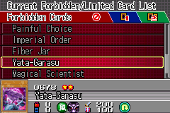 Yu-Gi-Oh! GX - Duel Academy - Menus  - Card #0678 - User Screenshot