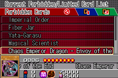 Yu-Gi-Oh! GX - Duel Academy - Menus  - Card #0886 - User Screenshot