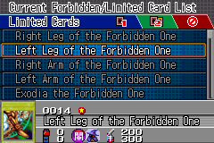 Yu-Gi-Oh! GX - Duel Academy - Menus  - Card #0014 - User Screenshot