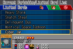 Yu-Gi-Oh! GX - Duel Academy - Menus  - Card #0440 - User Screenshot