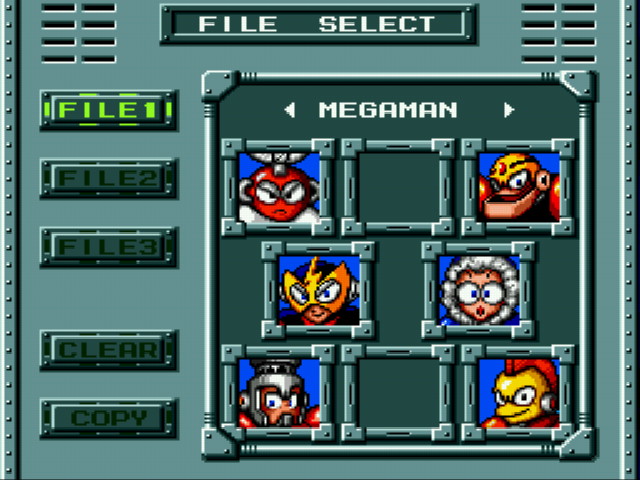 Elec Man -Menus Game Select:Save File Select - User Screenshot