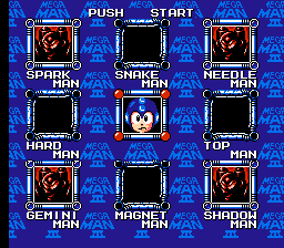 Mega Man III - The Rise and Fall of Dr. Wily - Doc Robot Stage Select - User Screenshot