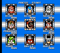 Mega Man Showdown IV - Character Select  - Level Select Screen - User Screenshot