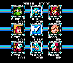 Mega Man Ultra - Character Select  - Level Select Screen - User Screenshot