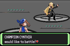 Pokemon Flora Sky - Battle  - Champion Cynthia! - User Screenshot