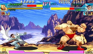 Marvel Vs. Capcom: Clash of Super Heroes (Euro 980123) - Level  -  - User Screenshot