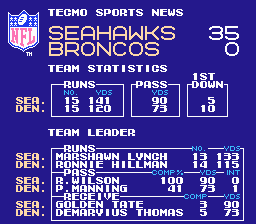 Tecmo Super Bowl 2014 (tecmobowl.org hack) - Misc  - Me vs jtotherock23 ~ I Win! - User Screenshot
