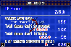 Yu-Gi-Oh! GX - Duel Academy - Yeah!!!!! Damage Dealt! - User Screenshot