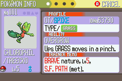 Pokemon Ruby Destiny Reign of Legends - Character Profile  - Meet Chlorophil the Treecko! - User Screenshot