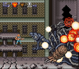 Contra III - The Alien Wars - first boss defeated - User Screenshot