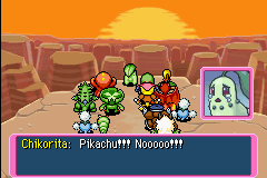 Pokemon Mystery Dungeon - Red Rescue Team - Cut-Scene  - :*( Love you too chikorita!!! - User Screenshot