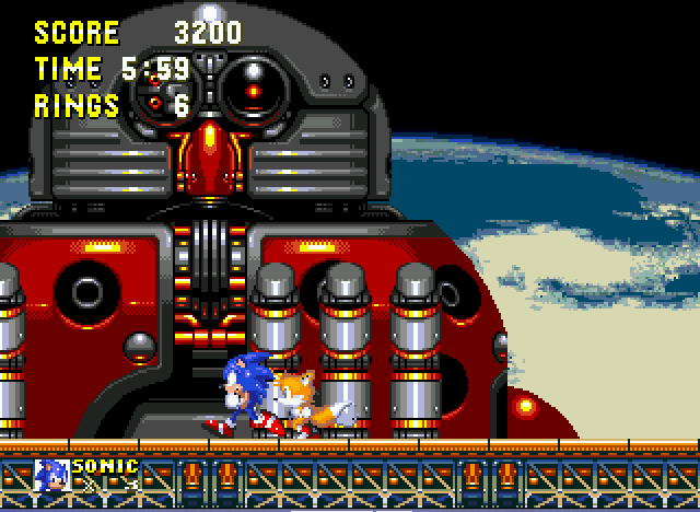 Sonic and Knuckles & Sonic 3 - A really hard boss - User Screenshot