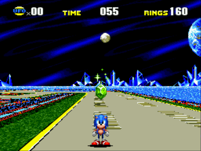 Sonic CD - Cut-Scene  - Collecting a rupee or time stone - User Screenshot