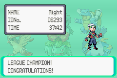 Pokemon Emerald 386 - Proof that I have defeated the game - User Screenshot