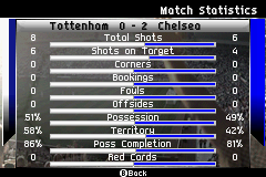 FIFA Soccer 07 - half time winning 1st game too - User Screenshot