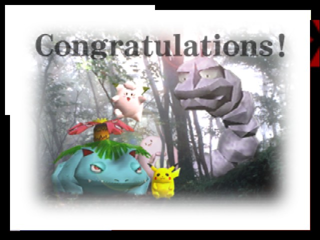 Super Smash Bros. - Ending  - Finishing with Pikachu - User Screenshot