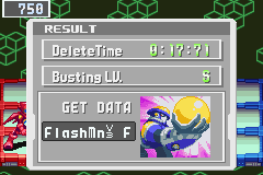 Megaman Battle Network 3 Blue - Battle  - Beat Flashman V3 with an S rank  - User Screenshot