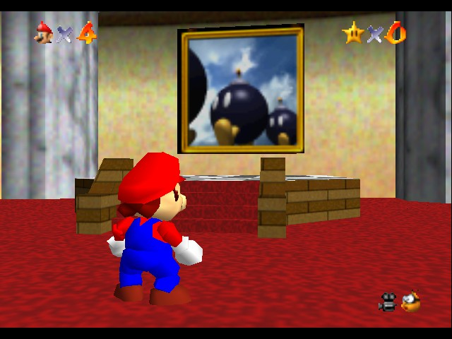Super Mario 64 - Game Select  - i used to think that those where duck things - User Screenshot