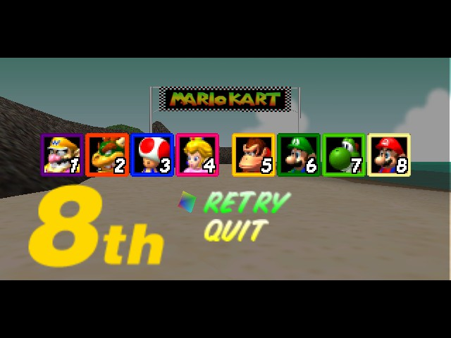 Mario Kart 64 - Awwww..... I Lost.... - User Screenshot