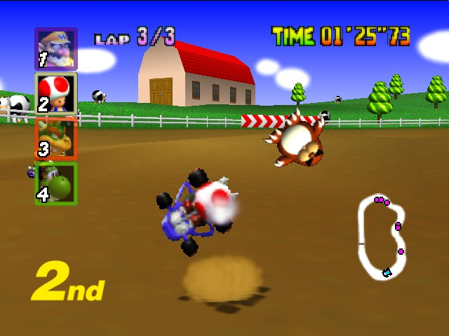 Mario Kart 64 - Toad: AAAAaaaahhhh!!!!!!!!!! - User Screenshot