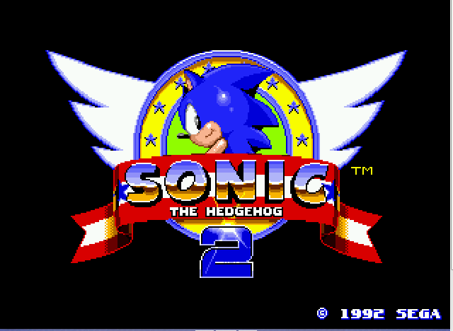 Sonic 2 Long Version - title screen 2 - User Screenshot