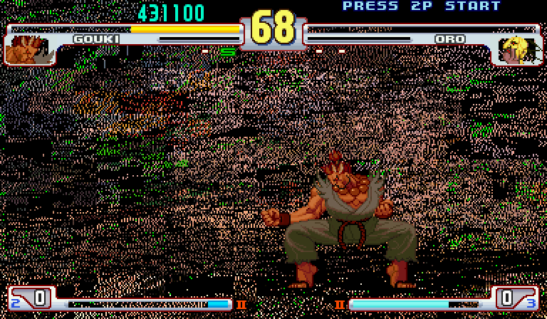 gouki vs oro (invisible) background messed up