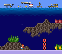 Super Mario Brothers Deluxe - World -1??!! - User Screenshot