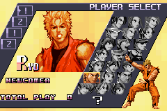 The King of Fighters EX2 - Howling Blood - Character Select  - Ryoooo Sakazakiiii - User Screenshot