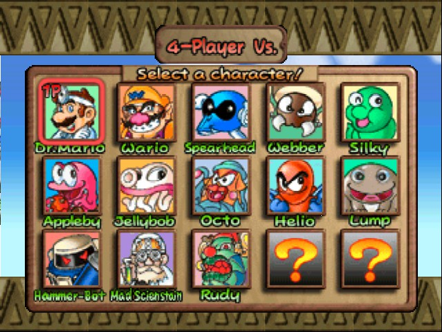 Dr. Mario 64 - Character Select  -  - User Screenshot