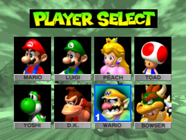 Mario Kart 64 - Character Select  -  - User Screenshot