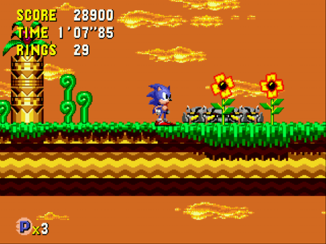 Sonic CD (european version) - Level Collision Chaos - Time Capsule Collision Chaos Act 2 - User Screenshot