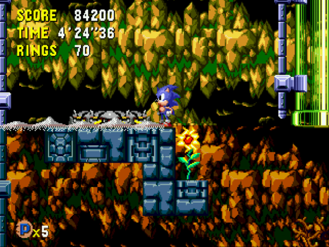 Sonic CD (european version) - Level Tidal Tempest - Time Capsule Tidal Tempest Act 1 - User Screenshot