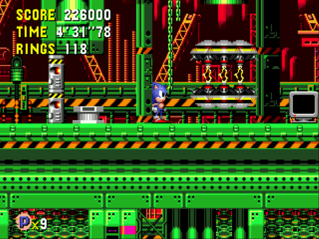 Sonic CD (european version) - Level Wacky Workbench - Time Capsule Wacky Workbench Act 1 - User Screenshot