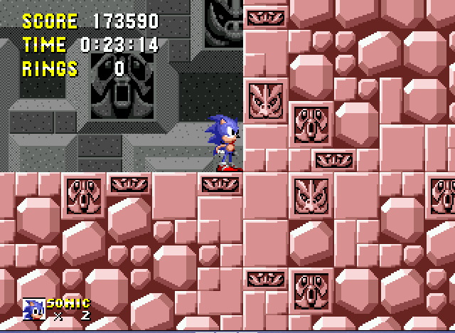Sonic 1 Megamix - wtf well this game is over stupid glitch - User Screenshot