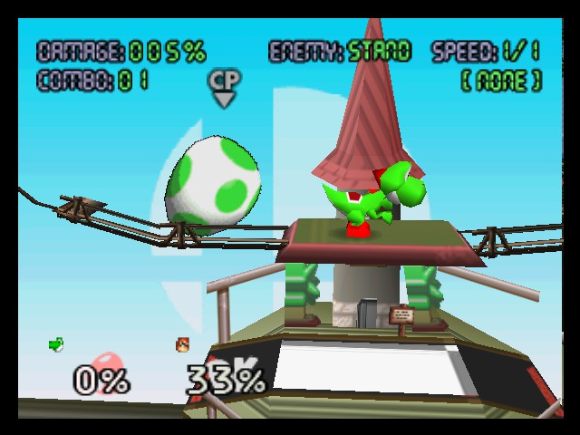 Super Smash Bros. - Level  - Yoshi pooped out the biggest DK egg LOL - User Screenshot