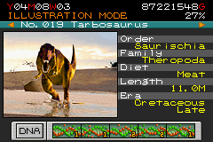Jurassic Park III - Park Builder - Character Select  - Tarbosaurus: One of my favorites. - User Screenshot