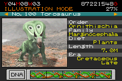 Jurassic Park III - Park Builder - Character Select  - Torosaurus: One of my favorites. - User Screenshot