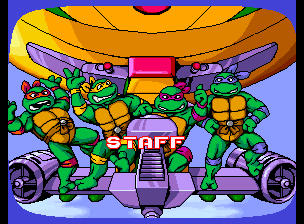 Teenage Mutant Ninja Turtles - Turtles in Time (4 Players ver UAA) - Ending  - Staff  - User Screenshot