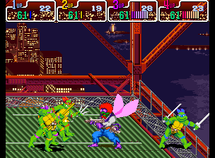 Teenage Mutant Ninja Turtles - Turtles in Time (4 Players ver UAA) - Battle  - Baxter Stockman is a fly. lol. - User Screenshot