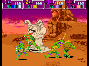 Teenage Mutant Ninja Turtles - Turtles in Time (4 Players ver UAA) - Battle  - Putty Thing! Where is your friend Fish Guy? - User Screenshot