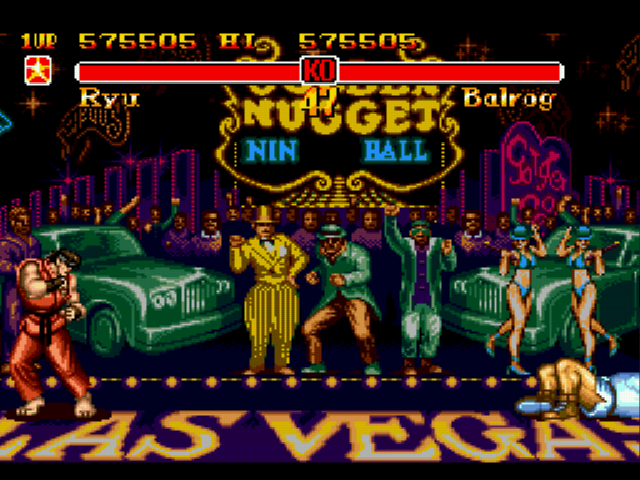 Super Street Fighter II - The New Challengers - my health bar is empty! why isn