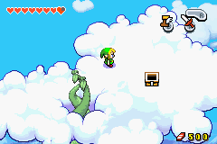 The Legend of Zelda - The Minish Cap - Location Hyrule Square - the bean planted by the minish near his house - User Screenshot