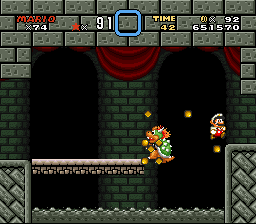 Brutal Mario - Axe cut bridge  - User Screenshot