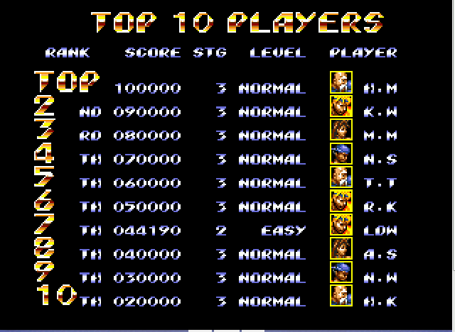 Streets of Rage 3 - WOW 7th place! ;| - User Screenshot